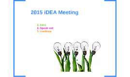 IDEA meeting