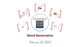 Word Generation 1.10
