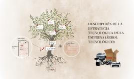 DESCRIPCIÓN DE LA ESTRATEGIA TECNOLÓGICA DE LA EMPRESA (ÁRBOL TECNOLÓGICO)