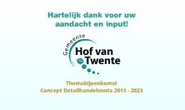 Concept Detailhandelsnota 2013 - 2023