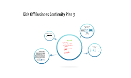 Kick Off Business Continuity Plan 3
