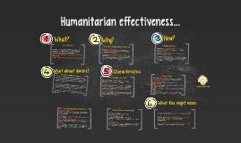 Humanitarian effectiveness