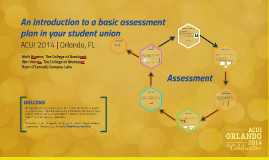Intro to assessment plan
