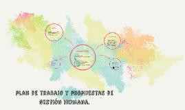 plan de trabajo y propuestas de gestión humana.