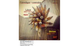 Förmågor i svenska