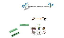 Essentials For Kindergarten Readiness