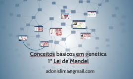 Conceitos básicos - GENÉTICA