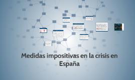 Medidas impositivas en la crisis en España