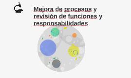 Mejora de procesos y revisión de funciones y responsabilidad