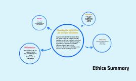 Ethics Summary