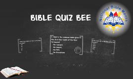 BIBLE QUIZ BEE