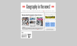 YR7 L4 - Geography in the news!
