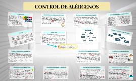 CONTROL DE ALÉRGENOS