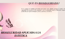 Copy of BIOSEGURIDAD APLICADA A LA ESTETICA