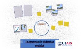 Propuestas de viviendas sociales