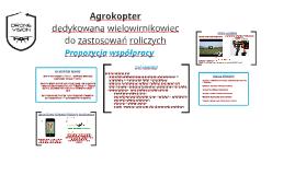 Agrokopter - dedykowana platforma latajacą do zastosowań rol