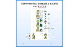Como delinear cuencas y cauces con ArcGIS 2018