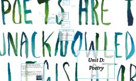30-1 Unit D: Poetry