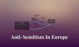Anti-Semitism In Europe