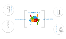 TEAMWORK: ADVANTAGES AND DISADVANTAGES