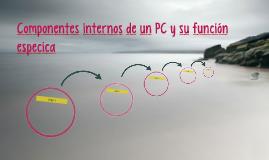 Componentes internos de un PC y su función especica