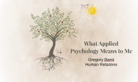 What Applied Psychology Means to Me