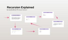 Recursion Explained