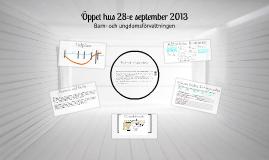 Öppet hus 28:e september 2013