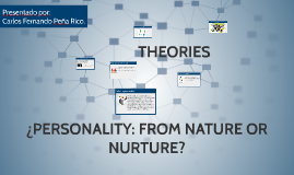 ¿PERSONALITY: FROM NATURE OR NURTURE?