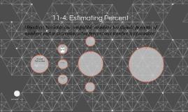 11-4: Estimating Percent