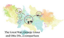 The Great War: George Grosz and Otto Dix, a comparison
