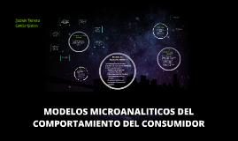 MODELOS MICROANALITICOS DEL COMPORTAMIENTO DEL CONSUMIDOR