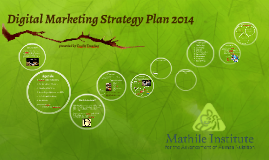 Digital Marketing Strategy Plan 2014