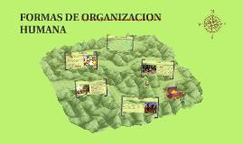 Copy of FORMAS DE ORGANIZACION HUMANA