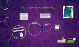 Math review centers day 1