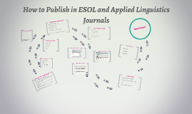 How to Publish in ESOL and Applied Linguistics Journals