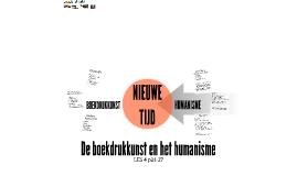 De boekdrukkunst en het humanisme