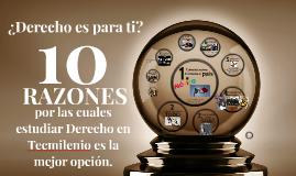 10 razones por las cuales estudiar Derecho en el Tecmilenio