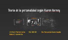 Copy of Teoría de la personalidad según Karen Horney