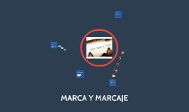 MARCA Y MARCAJE