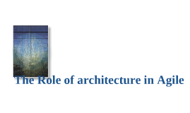 The role of the Architect at Kaplan