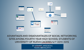 ADVANTAGES AND DISADVANTAGES OF SOCIAL NETWORKING SITES AMON