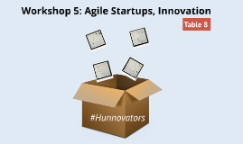 #Hunnovators Workshop 5: Agile Startups, Innovation (Table-8)