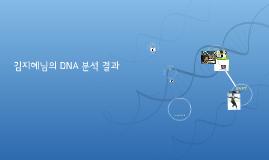 김지혜의 DNA 분석 결과