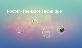foot in the door technique Fifteen years of foot-in-the door research lowman, r p recycling refuse: the effect of the foot-in-the-door technique on attitude and repetitive behavior.