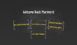 Welcome Back Mariners!