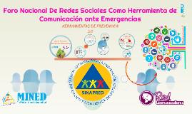 Foro Nacional De Redes Sociales Como Herramienta de Comunicación