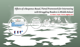 Effects of a Response-Based, Tiered Framework for Intervenin