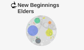 New Beginnings Elders Septmeber 2018 meeting
