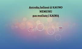 Antrokų kelionė iš KAUNO